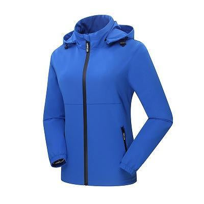 Women'S Qucik Dry Breathable Thin Jackets Sport Waterproof Female Trekking-Jackets-Bargain Bait Box-Blue-M-Bargain Bait Box