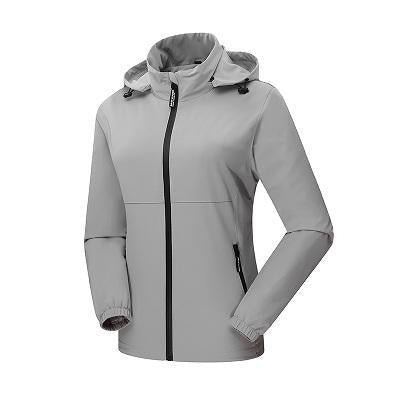 Women'S Qucik Dry Breathable Thin Jackets Sport Waterproof Female Trekking-Jackets-Bargain Bait Box-Light Grey-M-Bargain Bait Box