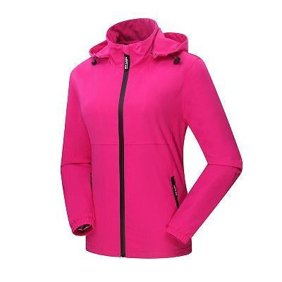 Women'S Qucik Dry Breathable Thin Jackets Sport Waterproof Female Trekking-Jackets-Bargain Bait Box-Rose-M-Bargain Bait Box