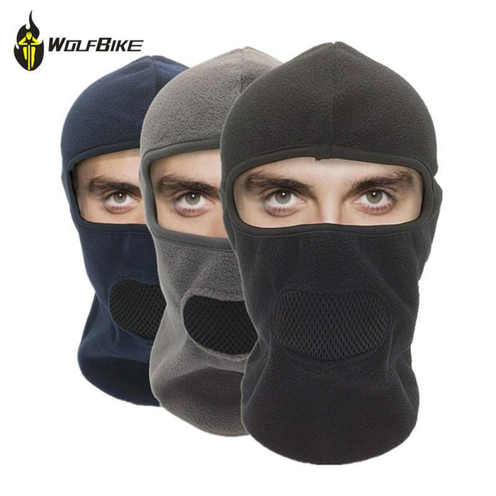 Wosawe 3-In-1 Head Mask Thermal Fleece Bicycle Sports Scarf Protect Mask Bike-Masks-Bargain Bait Box-Black-Bargain Bait Box