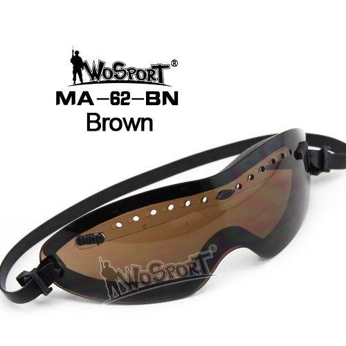 Wosport Tactical Smith Optics Boogie Regulator Goggle Tactical Goggle American-BestGoBuy Store-MA62 Brown-Bargain Bait Box