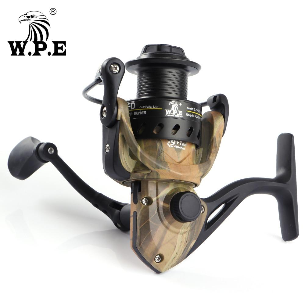 W.P.E Camou Spinn Water Resistant Carbon Drag Spinning Reel With Large Spool 8Kg-WATER HEAVEN Store-2000 Series-Bargain Bait Box
