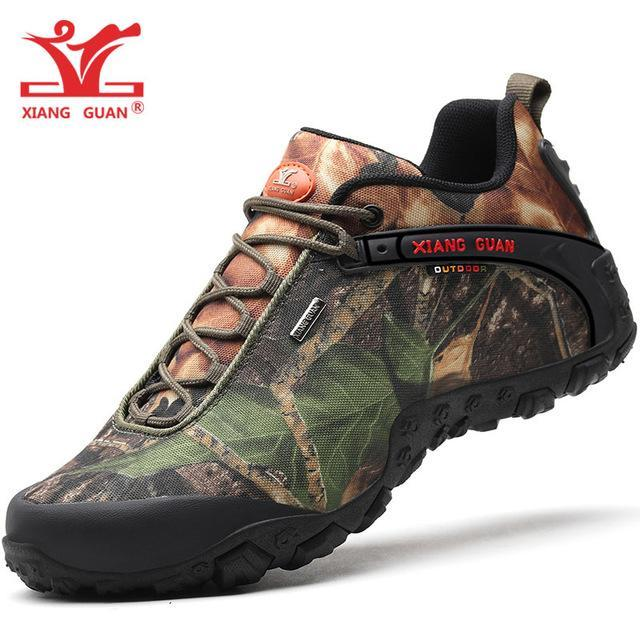 Xiang Guan Man Hiking Shoes Men Waterproof Trekking Boots Black Camouflage Sport-MR .GUO Store-Forest Camouflage-4-Bargain Bait Box