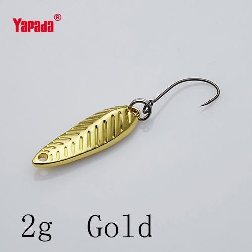 Yapada Spoon 009 Fly Leaf 2G/3G/5G Multicolor Single Hook 24-28-35Mm-yapada Official Store-2g Gold 6piece-Bargain Bait Box