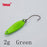 Yapada Spoon 009 Fly Leaf 2G/3G/5G Multicolor Single Hook 24-28-35Mm-yapada Official Store-2g Green 6piece-Bargain Bait Box