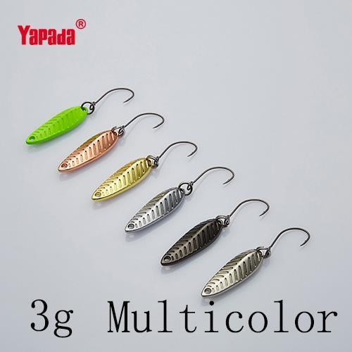 Yapada Spoon 009 Fly Leaf 2G/3G/5G Multicolor Single Hook 24-28-35Mm-yapada Official Store-3g Multicolor 6piece-Bargain Bait Box
