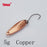 Yapada Spoon 009 Fly Leaf 2G/3G/5G Multicolor Single Hook 24-28-35Mm-yapada Official Store-5g Copper 6piece-Bargain Bait Box