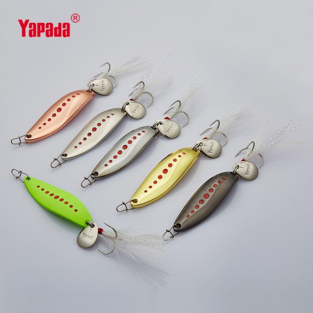 Yapada Spoon 012 Leech 10G/15G/20G Treble Hook +Feather+Sequins 55Mm/55Mm/58Mm-yapada Official Store-Silver 10g-Bargain Bait Box