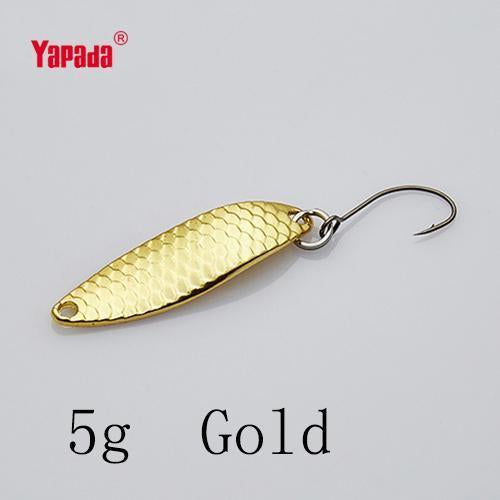 Yapada Spoon 013 Loong Claw 2G/3G/5G 32-38-45Mm Single Hook Multicolor-yapada Official Store-5g Gold 6piece-Bargain Bait Box