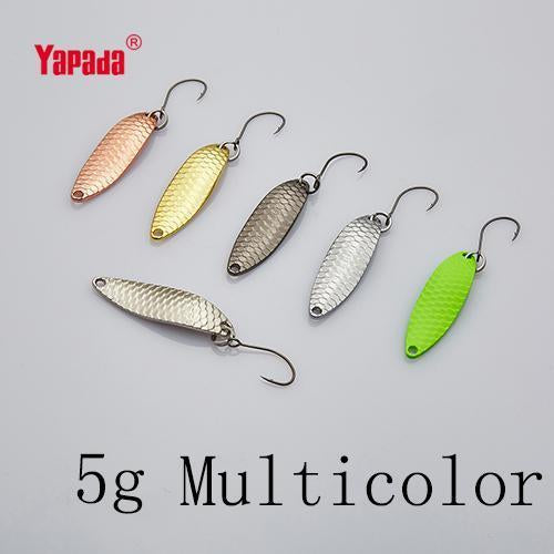 Yapada Spoon 013 Loong Claw 2G/3G/5G 32-38-45Mm Single Hook Multicolor-yapada Official Store-5g Multicolor 6piece-Bargain Bait Box