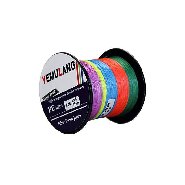 Yemulang 300M 8 Strands Multifilament 100% Pe Braided Fishing Lines For-Babo Fishing Trade Co., Ltd.-Multicolor-1.0-Bargain Bait Box