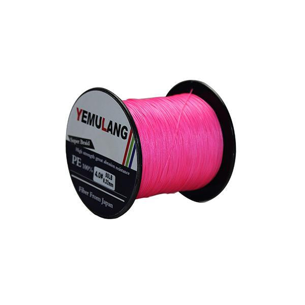 Yemulang 300M 8 Strands Multifilament 100% Pe Braided Fishing Lines For-Babo Fishing Trade Co., Ltd.-Pink-1.0-Bargain Bait Box