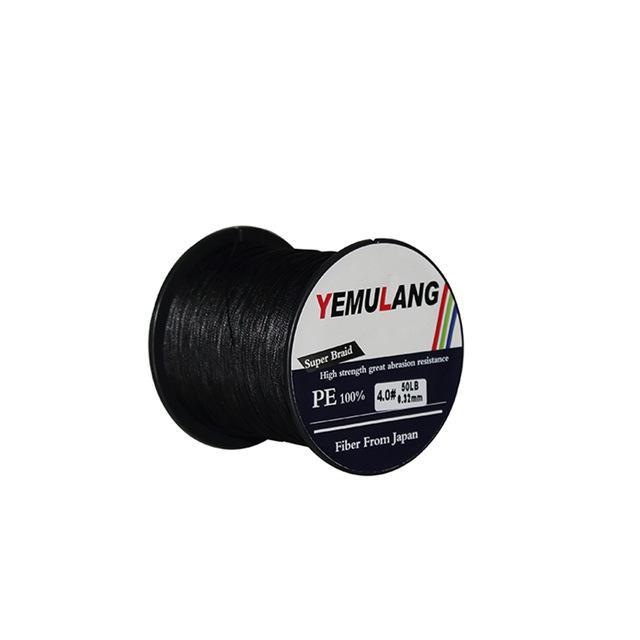 Yemulang 8 Strands Multifilament Braided Fishing Lines 100 M Pe Wires Fly Cord-Babo Fishing Trade Co., Ltd.-Black-1.0-Bargain Bait Box