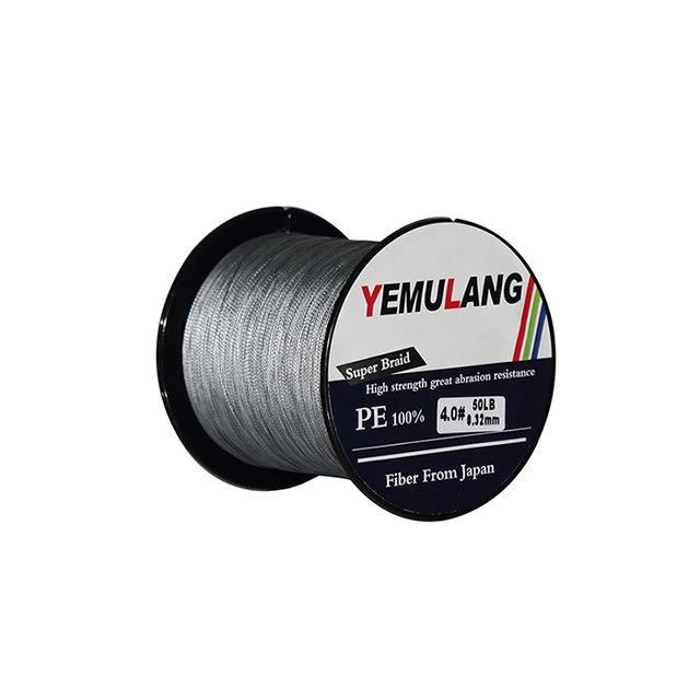 Yemulang 8 Strands Multifilament Braided Fishing Lines 100 M Pe Wires Fly Cord-Babo Fishing Trade Co., Ltd.-Gray-1.0-Bargain Bait Box