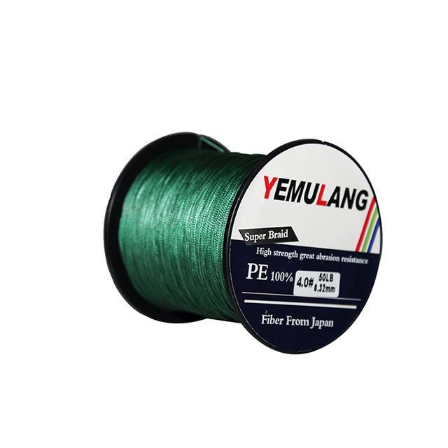 Yemulang 8 Strands Multifilament Braided Fishing Lines 100 M Pe Wires Fly Cord-Babo Fishing Trade Co., Ltd.-Green-1.0-Bargain Bait Box