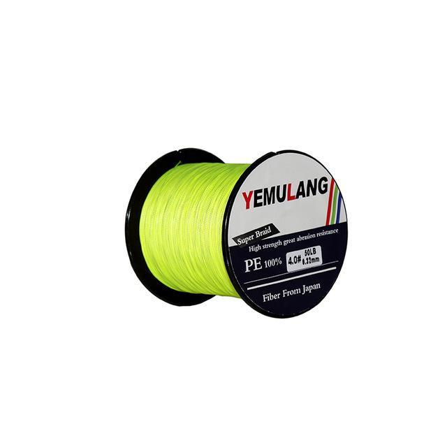 Yemulang 8 Strands Multifilament Braided Fishing Lines 100 M Pe Wires Fly Cord-Babo Fishing Trade Co., Ltd.-Light Green-1.0-Bargain Bait Box