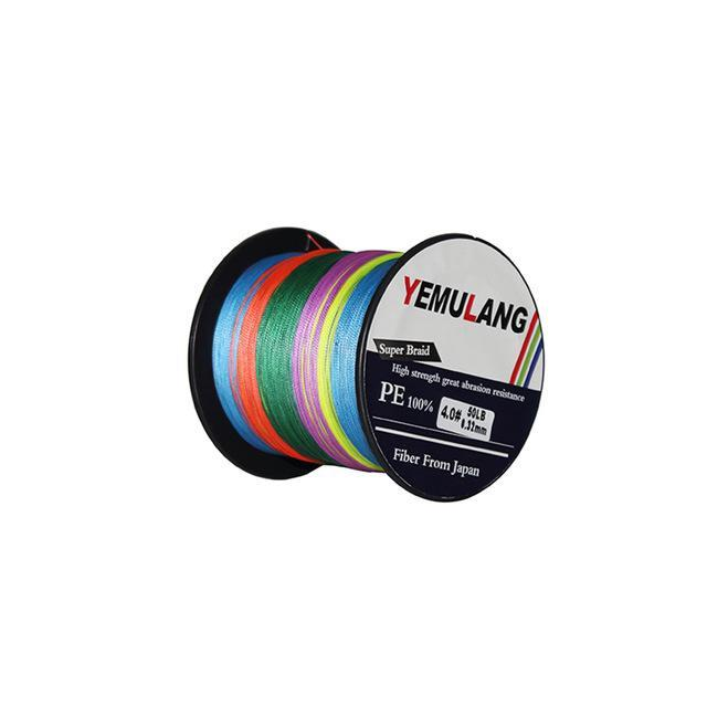 Yemulang 8 Strands Multifilament Braided Fishing Lines 100 M Pe Wires Fly Cord-Babo Fishing Trade Co., Ltd.-Multicolor-1.0-Bargain Bait Box