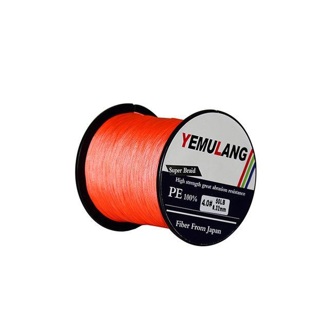 Yemulang 8 Strands Multifilament Braided Fishing Lines 100 M Pe Wires Fly Cord-Babo Fishing Trade Co., Ltd.-Orange-1.0-Bargain Bait Box