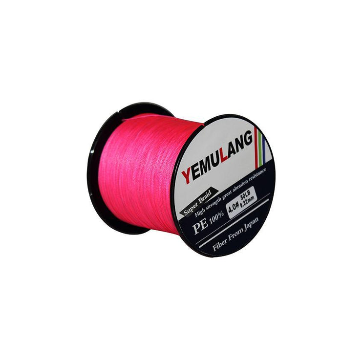 Yemulang 8 Strands Multifilament Braided Fishing Lines 100 M Pe Wires Fly Cord-Babo Fishing Trade Co., Ltd.-Pink-1.0-Bargain Bait Box