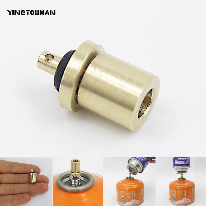 Cylinder Filling Butane Canister Gas Refill Adapter Copper~Outdoor Camping·StoER