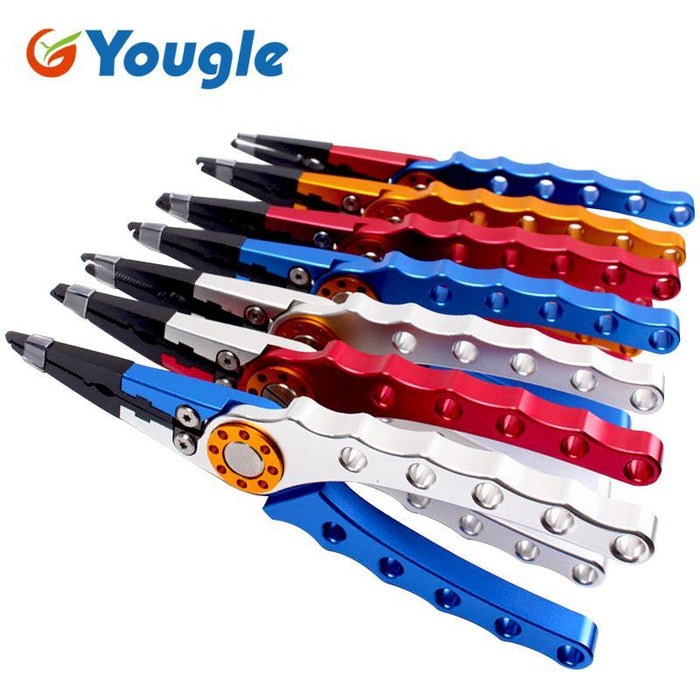 Yougle 7.9'' Aluminum Fishing Plier Scissors Hook Remover Fish Line Cutter-Fishing Pliers-Bargain Bait Box-Blue-Bargain Bait Box