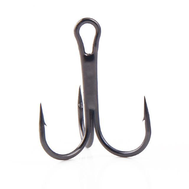 Ytqhxy 20Pcs/Lot Fishing Hooks High-Carbon Steel Treble Hook 2/4/6/8# Pesca-YTQHXY Fishing (china) Store-Black-2-Bargain Bait Box
