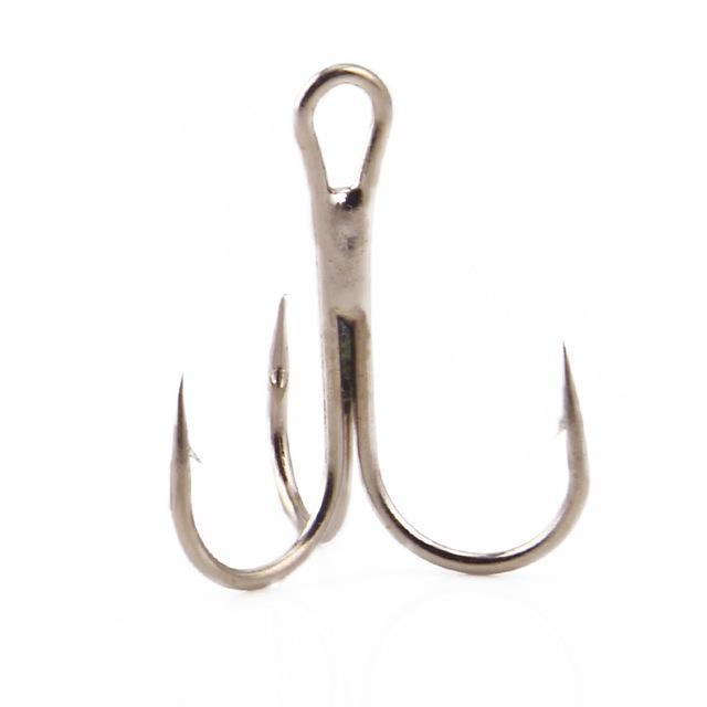 Ytqhxy 20Pcs/Lot Fishing Hooks High-Carbon Steel Treble Hook 2/4/6/8# Pesca-YTQHXY Fishing (china) Store-Silver-2-Bargain Bait Box