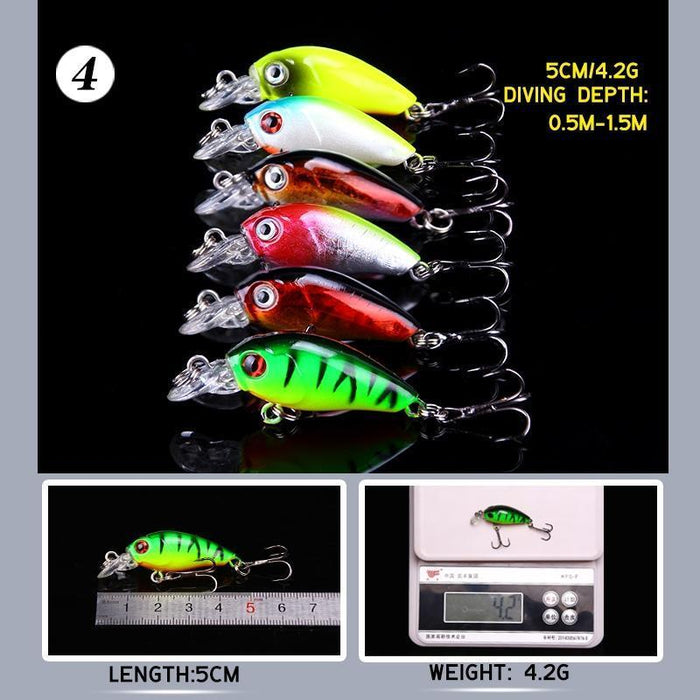 Ytqhxy 29Pcs/Lot Fishing Lures Set 5 Models Wobbler Fishing Bait Minnow Lure And-YTQHXY Fishing (china) Store-Bargain Bait Box