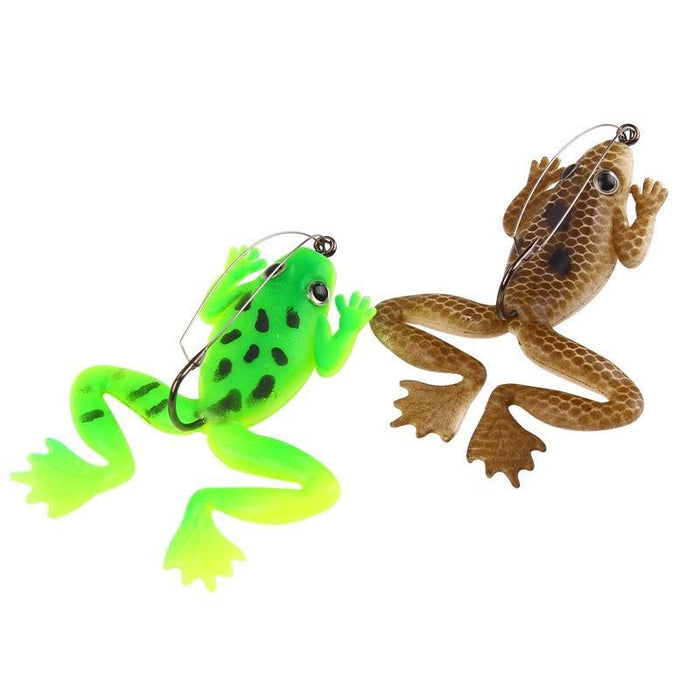 Ytqhxy 4Pcs/Lot Rubber Frog Soft Bait 60Mm 5.2G Fishing Lures 2 Colors Plastic-YTQHXY Fishing (china) Store-A-Bargain Bait Box