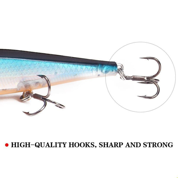 Ytqhxy Model Fishing Lures Laser Minnow Hard Bait 110Mm 13G Slowly Sinking-YTQHXY Fishing (china) Store-A-Bargain Bait Box