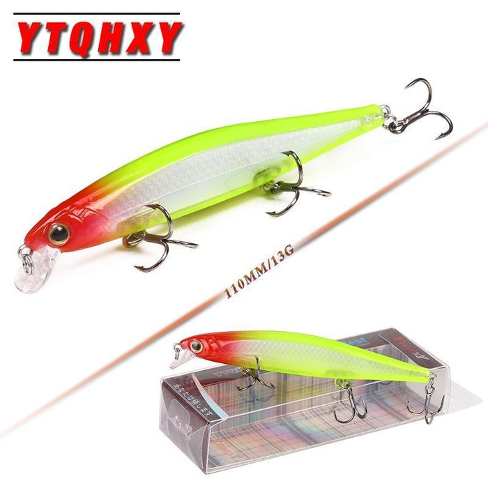 Ytqhxy Quality Minnow Fishing Lure 110Mm 13G Laser Slowly Sinking Crankbait Hard-YTQHXY Fishing (china) Store-A-Bargain Bait Box