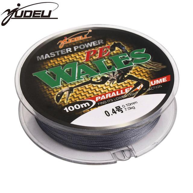 Yudeli Brand 4 Braided Super Strong 100M 4 Strands Weaves Japan Multifilament Pe-YUDELI FISHING TACKLE Store-gray-0.4-Bargain Bait Box