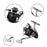 Yumoshi 1000-7000 Aluminum Alloy 5.5:1 High Speed Spinning Fishing Reel 12+1-Spinning Reels-ON THE WAY Store-1000 Series-Bargain Bait Box