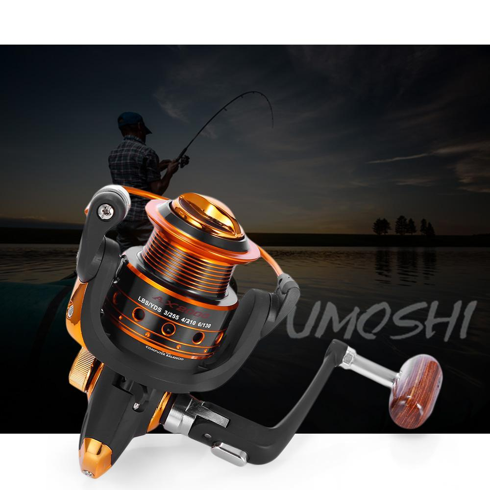 Yumoshi 12 + 1Bb Full Metal Fishing Reel With Exchangeable Arm Rocker-Spinning Reels-Outl1fe Adventure Store-1000 Series-Bargain Bait Box