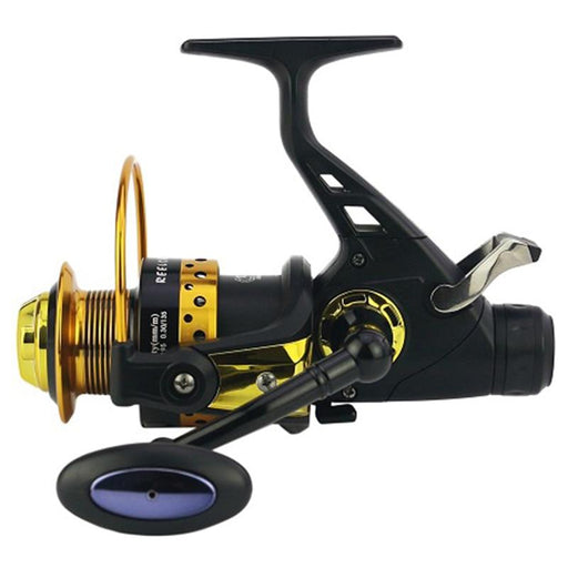 Yumoshi 13+1 Ball Bearings Front And Rear Brake Cnc Rocker Arm Fishing Reel-Fishing Reels-Life Going Keep Riding Store-Black-4000 Series-Bargain Bait Box
