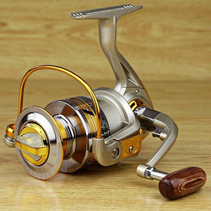 Yumoshi Ef1000-7000 12Bb 5.2:1 Metal Spinning Fishing Reels Fly Wheel For Fresh/-Outl1fe Adventure Store-1000 Series-Bargain Bait Box