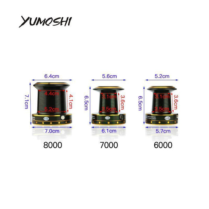 Yumoshi Fishing Reel Gh6000-11000 Spinning 12+1Bb 13+1Bb Saltwater-Spinning Reels-Outdoor life stores Store-6000 Series-Bargain Bait Box