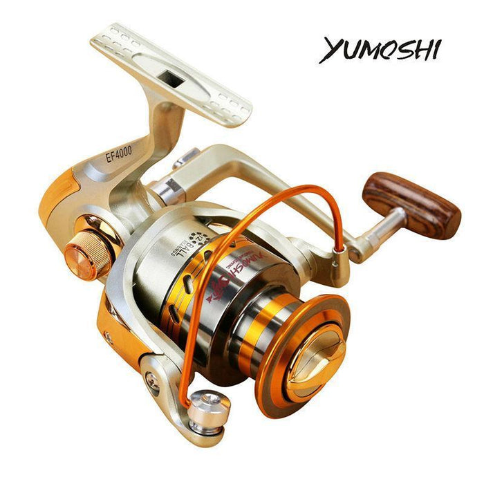 Yumoshi Fishing Reel Spinning Ef Series Aluminum Spool Superior Ratio 5.5:1-Spinning Reels-Outdoor life stores Store-1000 Series-Bargain Bait Box