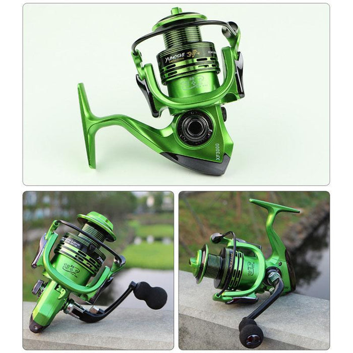 Yumoshi Full Metal Wire Cup All Metal Rocker Arm 1000-7000 Series Spinning-Spinning Reels-Hikingstar Store-XFYELLOW-1000 Series-Bargain Bait Box