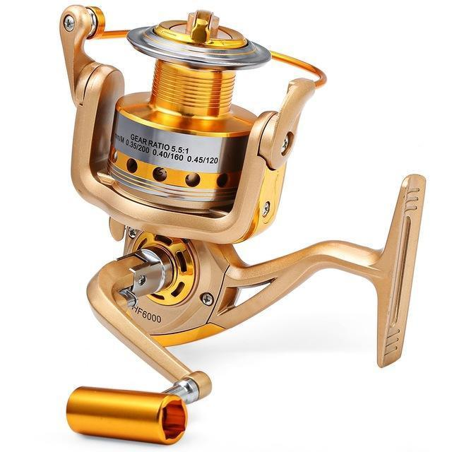 Yumoshi Hf 1000 - 7000 Fishing Reel Metal Spool Spinning Fishing Reels Folding-Spinning Reels-Outl1fe Adventure Store-1000 Series-Bargain Bait Box