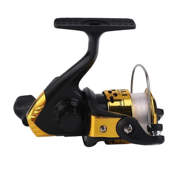 Yumoshi Jl200 Electroplating Fishing Reel Gear Ratio 5.1: 1 Spinning Reel With-Spinning Reels-ShenZhenYKS Outdoor Store-Gold-Bargain Bait Box