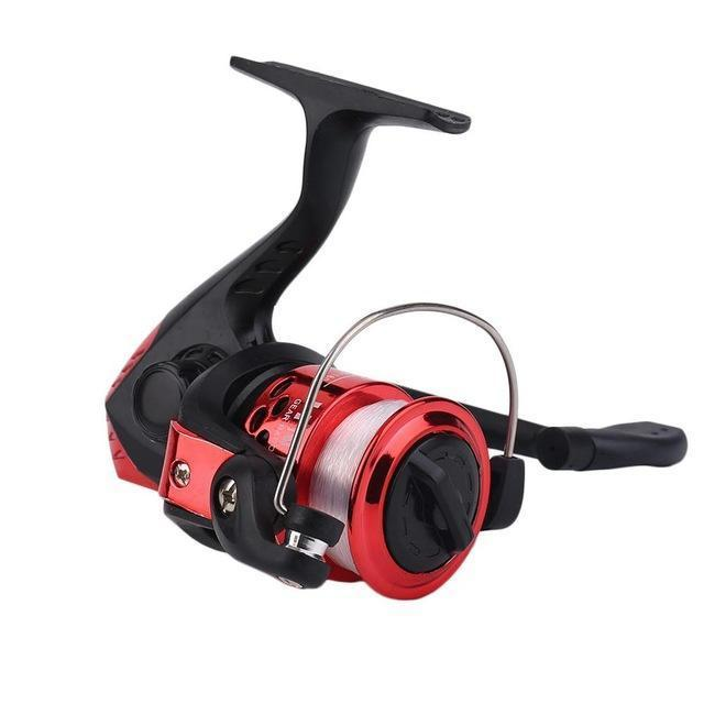 Yumoshi Jl200 Electroplating Fishing Reel Gear Ratio 5.1: 1 Spinning Reel With-Spinning Reels-ShenZhenYKS Outdoor Store-Red-Bargain Bait Box