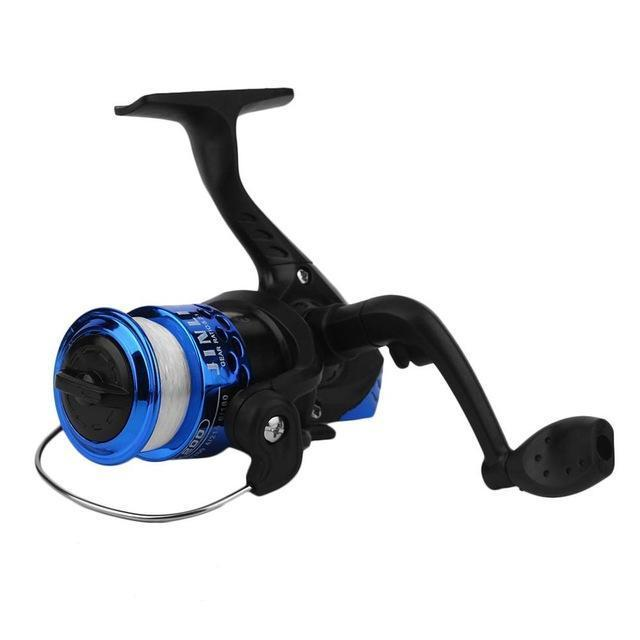 Yumoshi Jl200 Electroplating Fishing Reels Exchangable Handle Fishing Reel-Spinning Reels-ON THE WAY Store-Blue-Bargain Bait Box