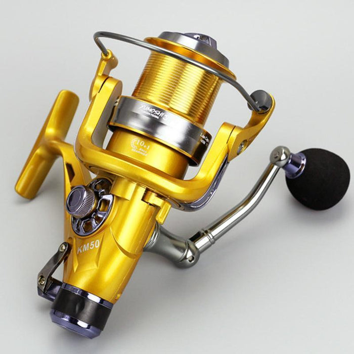 Yumoshi Metal Carp Spinning Fly Fishing Reels Baitcasting Reel Moulinet Peche-Spinning Reels-Outdoor Sports & fishing gear-Gold-5000 Series-Bargain Bait Box