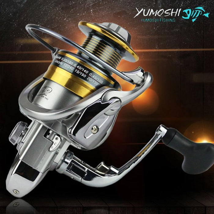 Yumoshi Metal Spool Spinning Fishing Reel 13+1Bb Superior Wheel For Freshwater-Spinning Reels-RedMeet Fishing Store-1000 Series-Bargain Bait Box