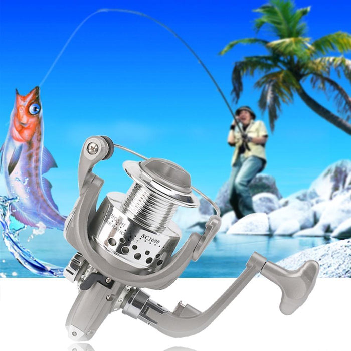 Yumoshi Plastic Electroplating Spinning Reel 8Bb Ball Bearing Fishing Reel For-Spinning Reels-Outdoor Fan Zone Store-1000 Series-Bargain Bait Box
