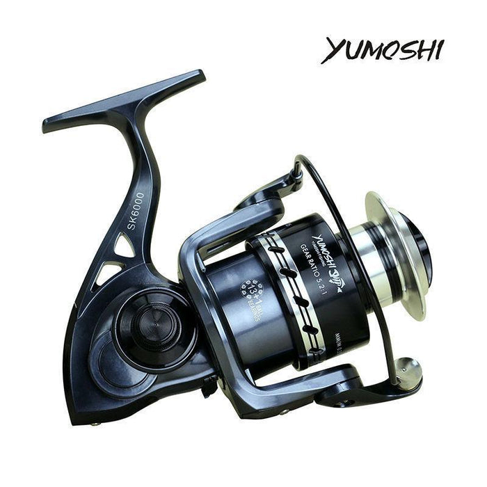 Yumoshi Sk 13+1 Bb Cnc Rocker Arm Metal Cup 2000-7000 Fishing Reel-Spinning Reels-yumoshi Official Store-2000 Series-Bargain Bait Box