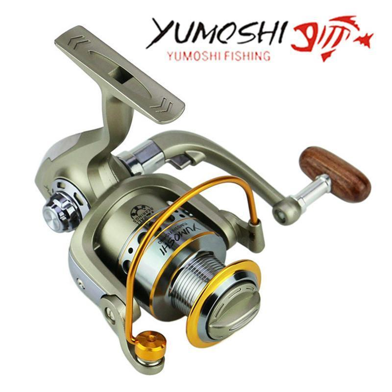 Yumoshi Wheels Fish Spinning Reel 5.5:1 12Ball Bearing Carretilhas De Fishing-Spinning Reels-RedMeet Fishing Store-1000 Series-Bargain Bait Box