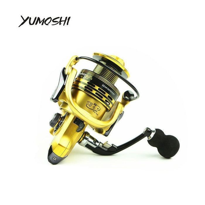 Yumoshi Wire Cup All Metal Rocker Arm 1000-7000 Series Spinning Reel Without-Spinning Reels-yumoshi Official Store-Golden-1000 Series-Bargain Bait Box