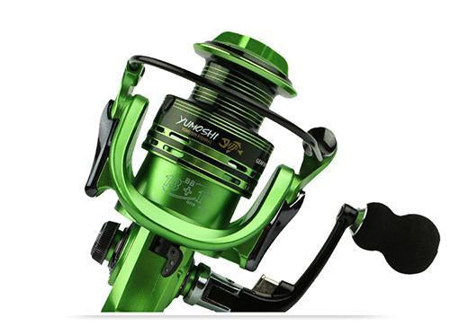 Yumoshi Wire Cup All Metal Rocker Arm 1000-7000 Series Spinning Reel Without-Spinning Reels-yumoshi Official Store-Green-1000 Series-Bargain Bait Box